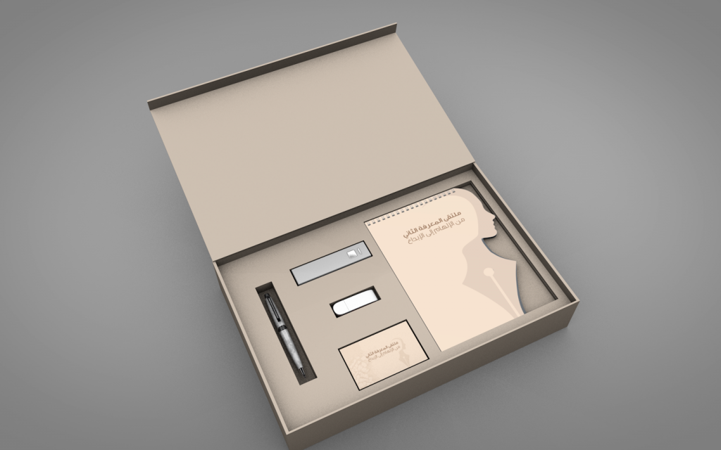 CORPORATE GIFT BOX ENCASING DIE CUT NOTPAD, PEN, USB ETC.