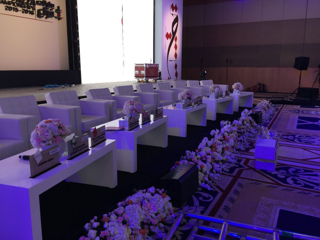 STAGE SET UP FOR HAMDAN BIN MOHAMMED HERITAGE CENTER EVENT